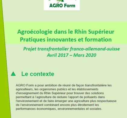 Flyer de présentation du projet AGRO Form