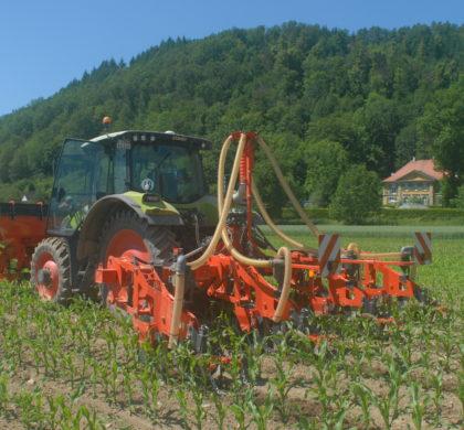 Bodendepot für Festdünger im Kornermais