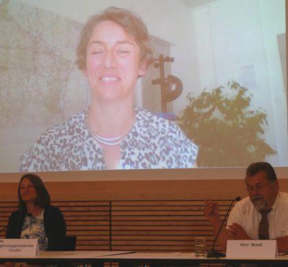 Abschlussveranstaltung AGRO Form: digitale trinationale Pressekonferenz trinationale en ligne